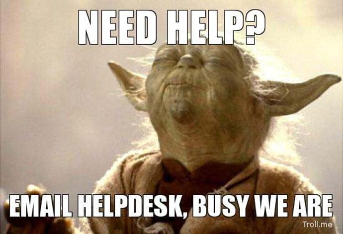 help me yoda please