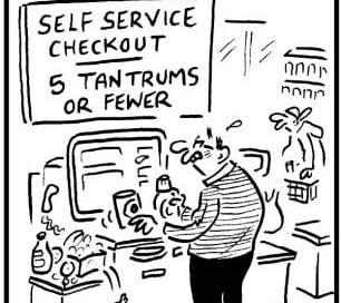 Self Service Checkout: Five Tantrums or  Fewer
