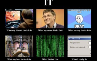 IT Management meme, various funny pictures