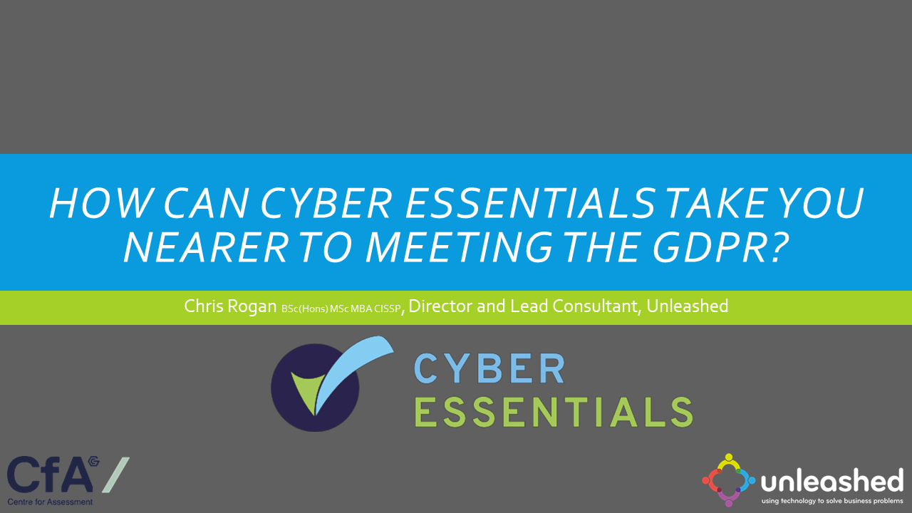 How can Cyber Essentials take you nearer to meeting the GDPR?